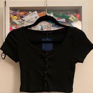 brandy melville button t shirt
